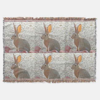 Cartoon Bunny Throw Blanket