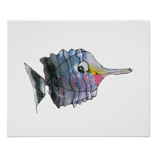 Cartoon Butterfly Fish Children's Wall Art Poster