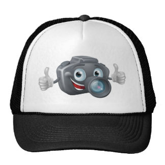 Cartoon camera mascot trucker hat