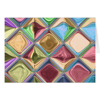 Cartoon Candydrops Mosaic Tile Art Card