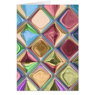 Cartoon Candydrops Mosaic Tile Art Card