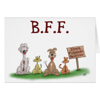 Cartoon Cards: Best Friends Forever Card