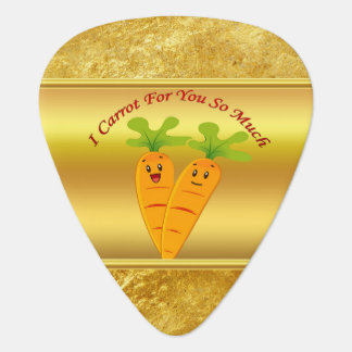 Cartoon carrots with big eyes and a smile to go plectrum