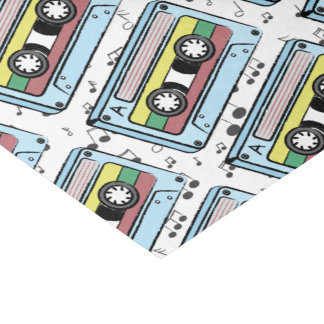 Cartoon Cassette Tape & Music Notes Tissue Paper