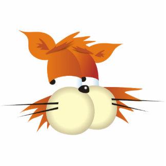 Cartoon Cat Standing Photo Sculpture