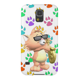 Cartoon Cat Samsung Galaxy S5 Case-Multi Paw Print Cases For Galaxy S5
