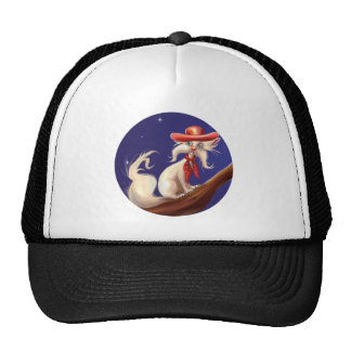 cartoon cat with cowboy hat