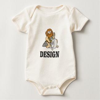 cartoon cave design baby bodysuit