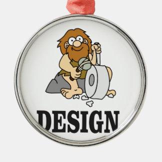 cartoon cave design Silver-Colored round decoration