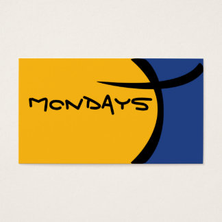 Cartoon Cell - Blue and Yellow Business Card