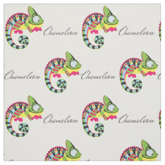 cartoon chameleon fabric