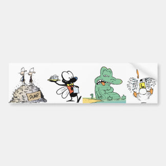Cartoon Character Animals Bumper Sticker