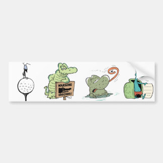 Cartoon Character Animals Kids Bumper Sticker