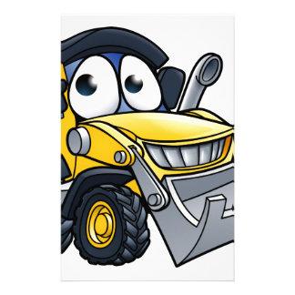 Cartoon Character Digger Bulldozer Stationery