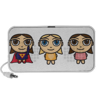 Cartoon Character Girls Doodle Stickers Laptop Speakers