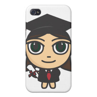 Cartoon Character Graduation  iPhone 4/4S Covers