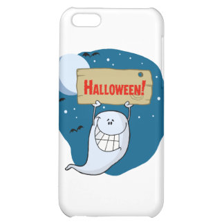 Cartoon Character Happy ghost with plate iPhone 5C Cover