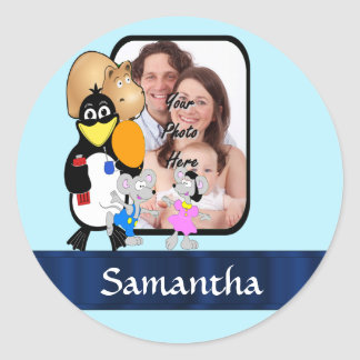 Cartoon character photo background stickers