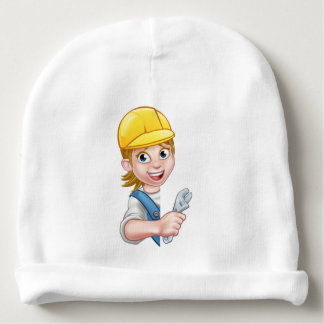 Cartoon Character Plumber Woman Baby Beanie