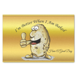 cartoon character potato with big eyes 1 tissue paper