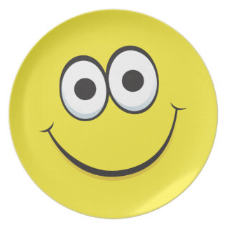 Cartoon character smiley face, fun and cute plate
