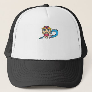 Cartoon Character Surfer Girl  with Waves Hat