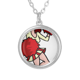 Cartoon Cheerleader Girl Silver Plated Necklace