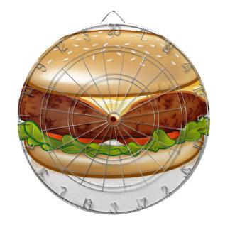 Cartoon Cheese Burger Dartboard