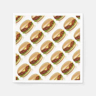 Cartoon Cheese Burger Disposable Serviette