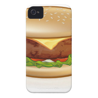 Cartoon Cheese Burger iPhone 4 Cover