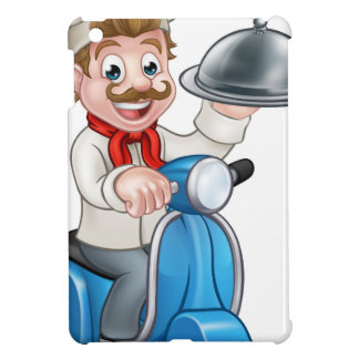 Cartoon Chef on Moped Scooter Cover For The iPad Mini