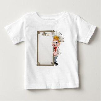 Cartoon Chef or Baker Character Menu Baby T-Shirt
