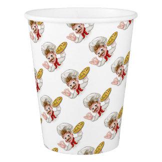 Cartoon Chef Pizza Paper Cup