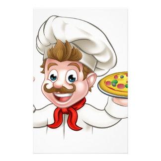 Cartoon Chef Pizza Stationery