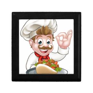 Cartoon Chef with Kebab Gift Box
