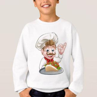 Cartoon Chef with Kebab Sweatshirt