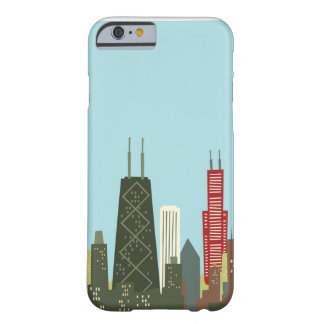 Cartoon Chicago Barely There iPhone 6 Case