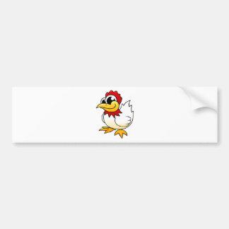 Cartoon Chicken Bumper Sticker