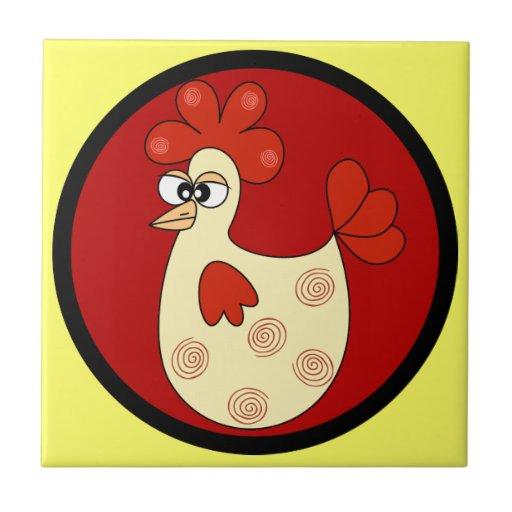 Cartoon Chicken kitchen tile Tiles