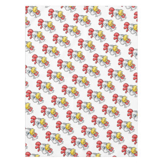 Cartoon Chicken Rooster Character Tablecloth