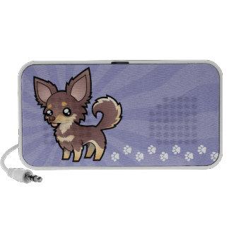 Cartoon Chihuahua (long coat) Mp3 Speakers