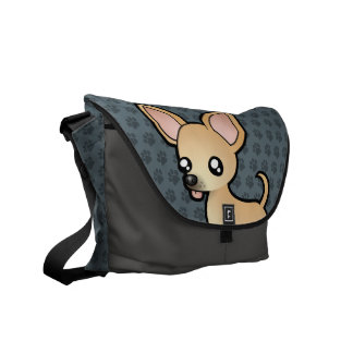 Cartoon Chihuahua (smooth coat) Commuter Bags