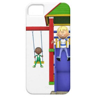 Cartoon Children at a Playground Barely There iPhone 5 Case