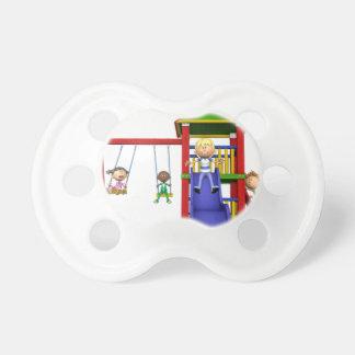 Cartoon Children at a Playground Dummy