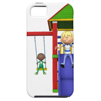 Cartoon Children at a Playground iPhone 5 Covers