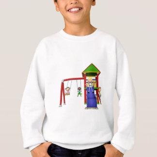 Cartoon Children at a Playground Sweatshirt