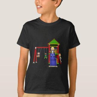 Cartoon Children at a Playground T-Shirt
