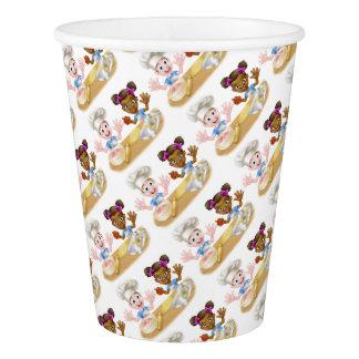 Cartoon Children Bakers Cooking Paper Cup