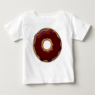 Cartoon Chocolate Donut Design Baby T-Shirt