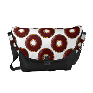 Cartoon Chocolate Donut Design Commuter Bag